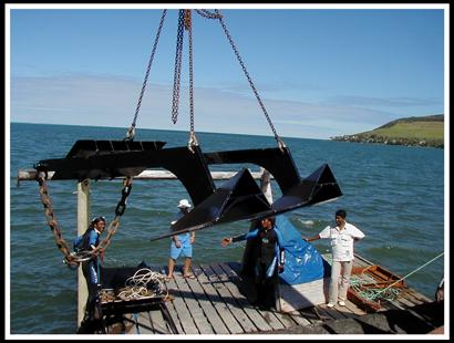 Mise-a-leau-Ancre-Aquazur-Matériel-aquaculture-pisciculture